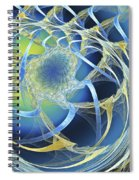 Woven Blue Ribbons Spiral Notebook