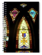 Wrc Stained Glass Window Spiral Notebook