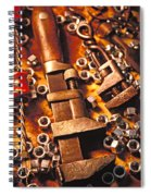 Wrench Tools And Nuts Spiral Notebook