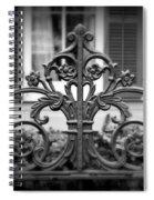 Wrought Iron Detail Spiral Notebook