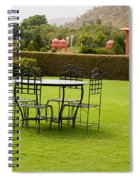 Wrought Metal Chairs Around A Table In A Lawn Spiral Notebook