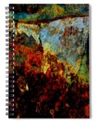 Wyoming Waterfall Abstract Spiral Notebook