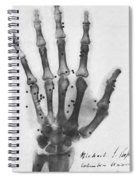 X-ray Of A Hand With Buckshot Spiral Notebook
