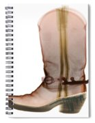 X-ray Of Cowboy Boot Spiral Notebook