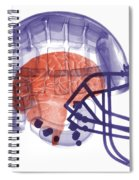 X-ray Of Head In Football Helmet Spiral Notebook