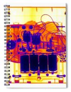 X-ray Of Mechanical Fish Spiral Notebook