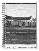 Yacht, 1882 Spiral Notebook