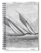Yacht Race, 1854 Spiral Notebook
