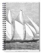 Yacht: Sappho, 1868 Spiral Notebook