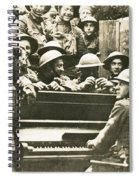 Yankee Soldiers Around A Piano Spiral Notebook