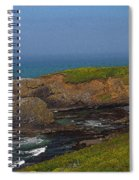Yaquina Head Lighthouse And Bay - Posterized Spiral Notebook