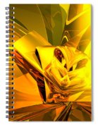 Yellow Abstract Spiral Notebook