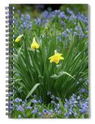 Yellow And Blue Flowers Spiral Notebook