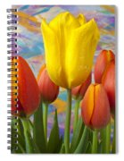 Yellow And Orange Tulips Spiral Notebook