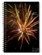 Yellow And Red Fireworks Spiral Notebook