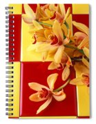 Yellow And Red Orchids  Spiral Notebook