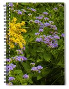 Yellow And Violet Flowers Spiral Notebook