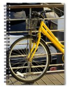 Yellow Bicycle Spiral Notebook