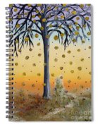Yellow-blossomed Wishing Tree Spiral Notebook