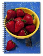 Yellow Bowl Of Strawberries Spiral Notebook