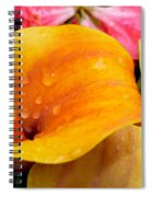 Yellow Calla Lily Spiral Notebook