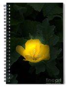 Yellow Flower Against Green Spiral Notebook
