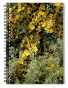 Yellow Flowers On Tree Spiral Notebook