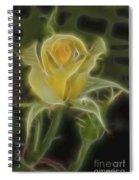 Yellow Fractalius Rose Spiral Notebook