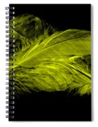 Yellow Ghost On Black Spiral Notebook