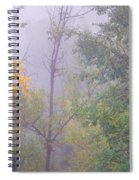 Yellow In The Fog Spiral Notebook