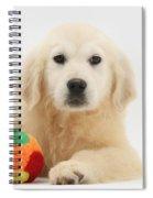 Yellow Labrador Retriever Pup Spiral Notebook