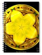Yellow Lily Kaleidoscope Under Glass Spiral Notebook