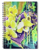 Yellow Orchids Of The Heart Spiral Notebook