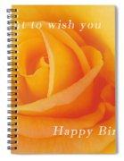 Yellow Rose Birthday Card Spiral Notebook