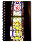 Yellow Stained Glass Window Spiral Notebook