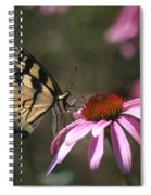 Yellow Swallowtail And Purple Coneflower Spiral Notebook