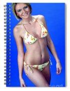 Yellow Swim 13-crop Spiral Notebook