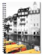 Yellow Tablecloths Spiral Notebook