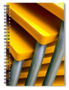Yellow Tables Spiral Notebook