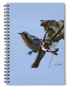 Yellow-throated Warbler Spiral Notebook