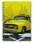 Yellow Truck In Truck Grill Spiral Notebook