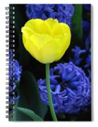 Yellow Tulip And Hyacinth Spiral Notebook