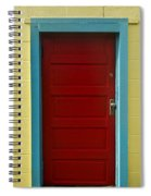 Yellow Wall And Red Door Spiral Notebook