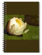 Yellow Waterlily Bud Spiral Notebook