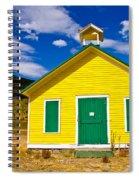 Yellow Western School House Spiral Notebook