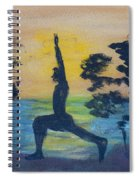 Yoga High Lunge Pose  Spiral Notebook