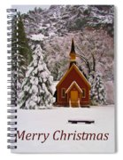Yosemite Chapel - Christmas Card Spiral Notebook