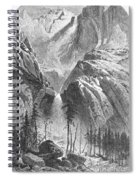 Yosemite Falls, 1874 Spiral Notebook