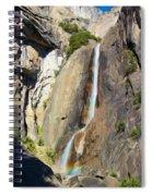 Yosemite Falls Rainbow Spiral Notebook