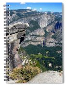 Yosemite Valley From Glacier Point Spiral Notebook